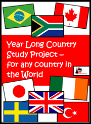 Back to School Tip - Take time now to print and bind together what your students will need for the entire school year, like this year long country study project that works for any country in the world. This helps your save time, sanity and quality teaching practices later. Suggestions from Raki's Rad Resources