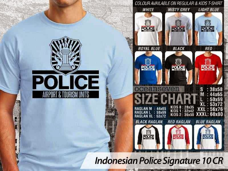 KAOS Indonesian Police Signature 10 | KAOS Police Airport & Tourism Units distro ocean seven