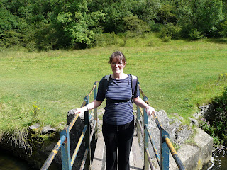 Janet at Bridge over River Wye
