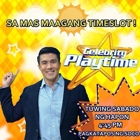 Celebrity Playtime moves to an earlier timeslot