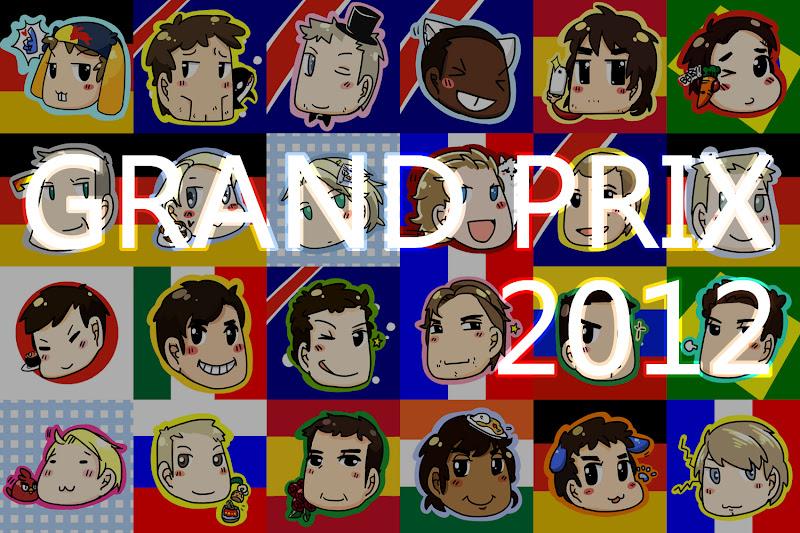 Grand Prix 2012 F1 Season Drivers Cartoons