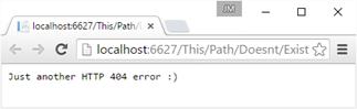 Error con texto personalizado