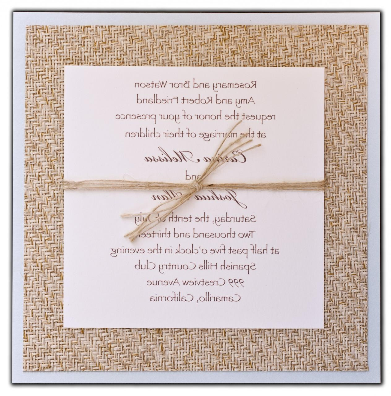 custom burlap wedding