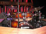 Drums on the Grand Ole Opry stage in Nashville TN 09032011