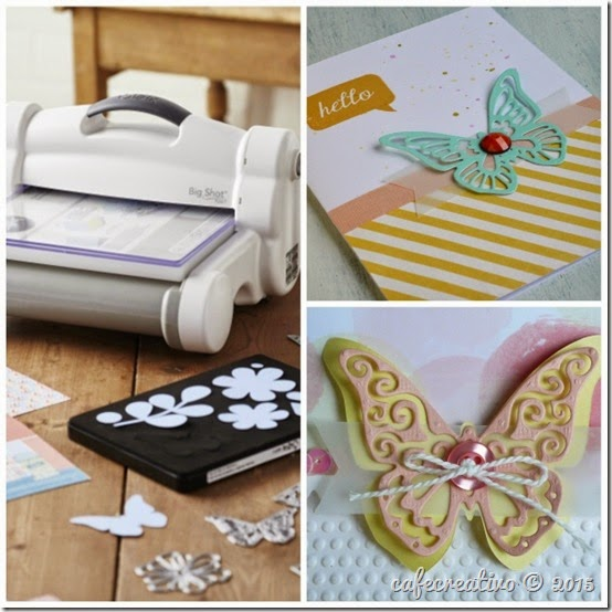 cafe creativo - sizzix big shot plus starter kit - butterfly card