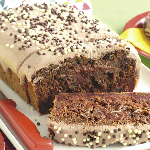 Beet Bread with Chocolate Sour Cream Frosting