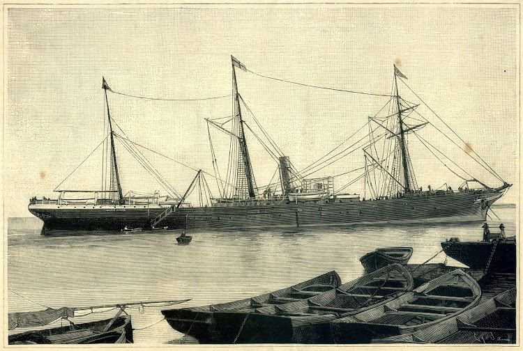 El vapor BENICARLO, antes FIVALLER, de la matricula de Valencia. La Ilustración Española y Americana. Año 1887.tif