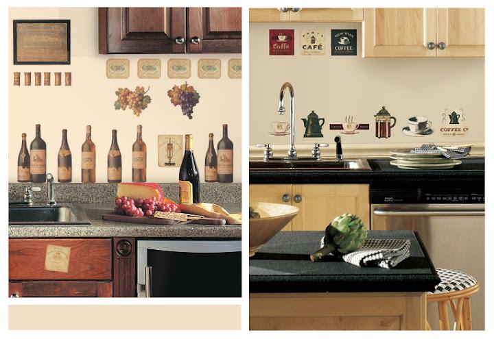 Kreative Wandsticker für die Küche