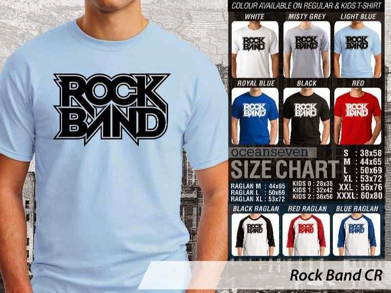 Kaos personel band Rock Band Alat Musik distro ocean seven