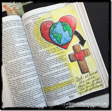 Bible Art Journaling John 3-16