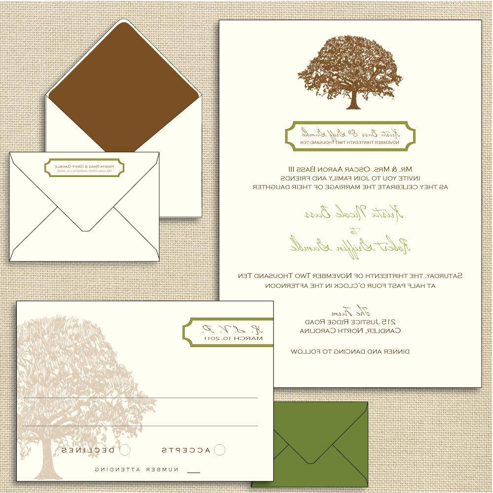 Oak Letterpress Wedding