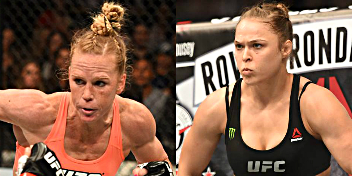 Image of The Fight Between Ronda Rousey and Holly Holm