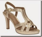 Clarks cushioned gold strappy sandal
