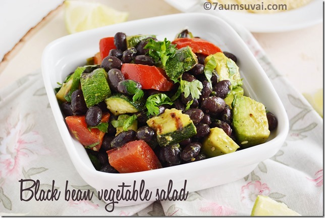 Black bean grilled vegetable salad