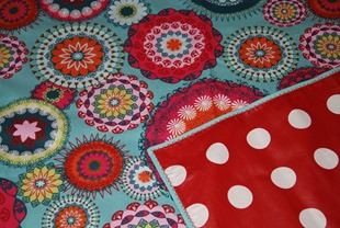 Grandma's picnic blanket backing and binding
