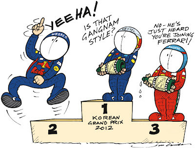 комикс Jim Bamber по Гран-при Кореи 2012