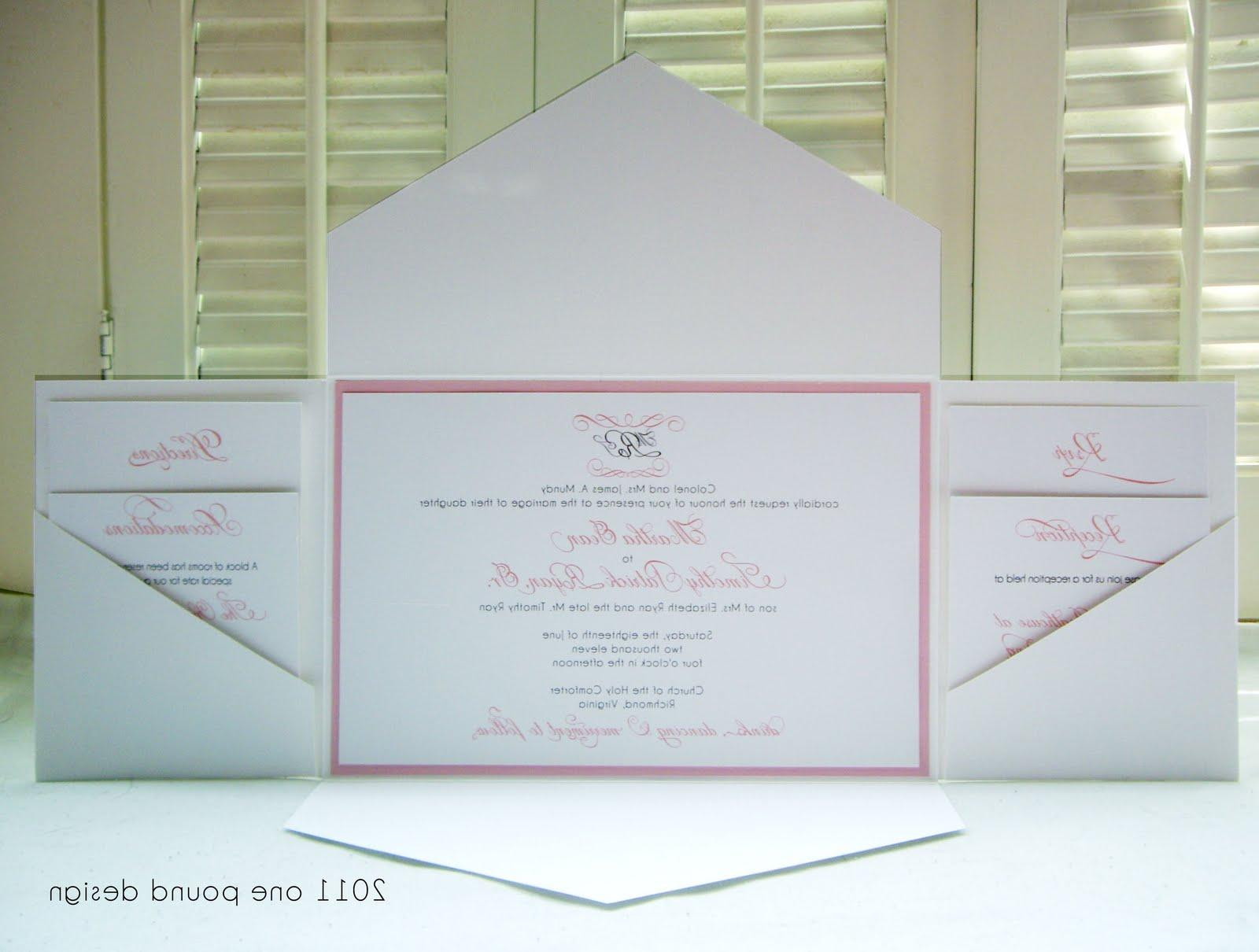 wedding invitations with multi