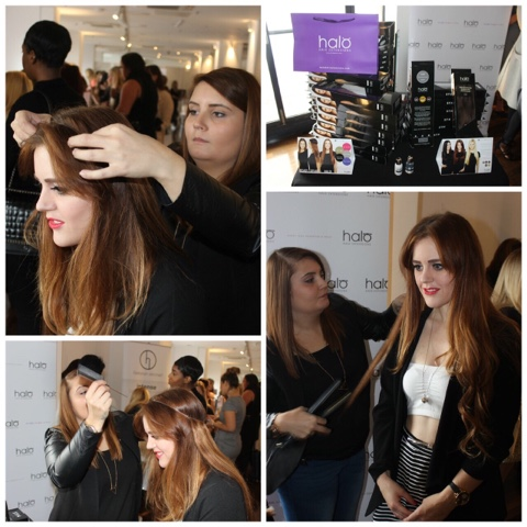 Halo Hair extensions BLFW blogers love fashion week 2015