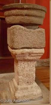 Ara romana como soporte de pila bautismal - Iglesia de San Román - Cirauqui