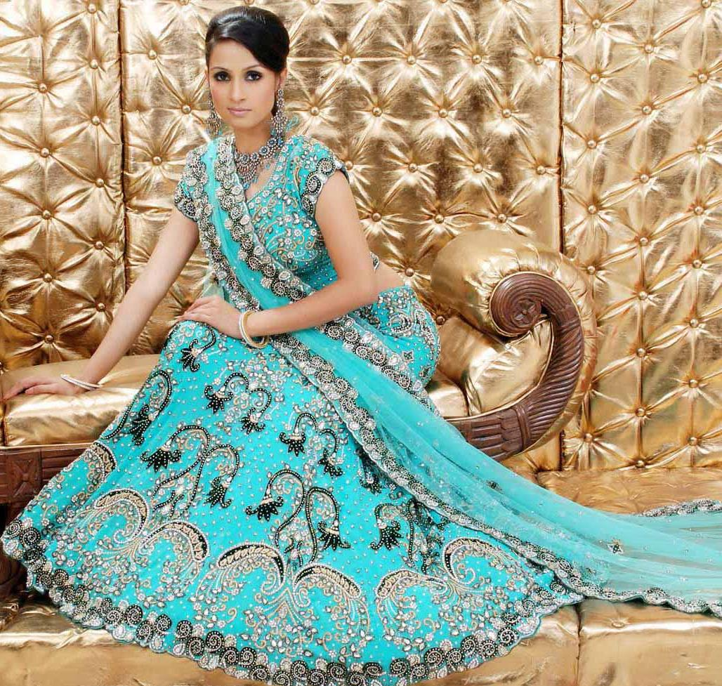 Aqua Blue Pure Georgette Base