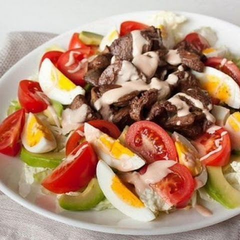 #Salad with chicken liver