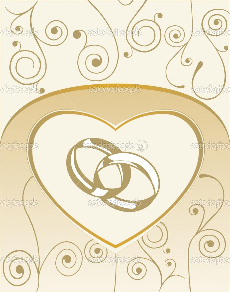 Background with heart, wedding rings