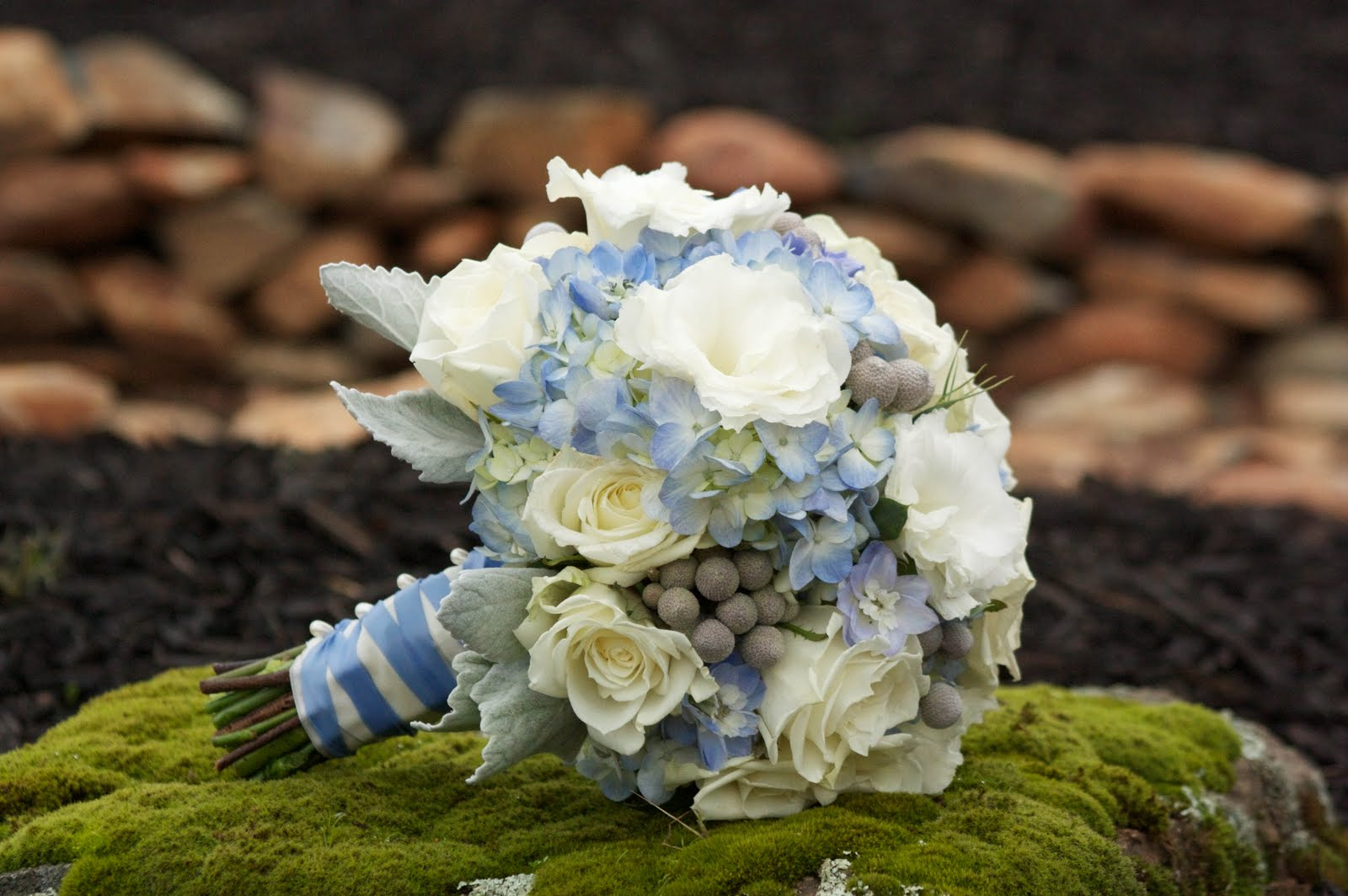Blue Wedding Boutonnieres