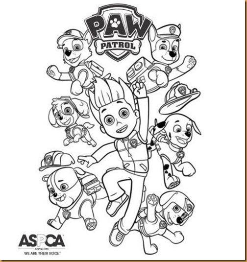 Pinta y Colorea: La patrulla Canina (Paw Patrol)
