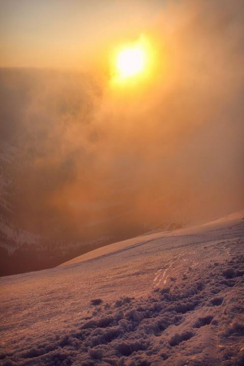 Zachód słońca z grani Świnica-Kasprowy