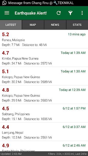 gempa bumi di sabah