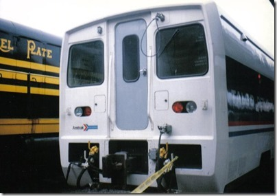Amtrak Talgo Demonstrator Set at Union Station in Portland, Oregon on May 11, 1996