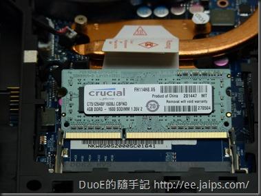 CJSCOPE QX-250 美光 DDR3 RAM