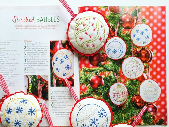 Stitched Christmas Baubles {Handmade Christmas}