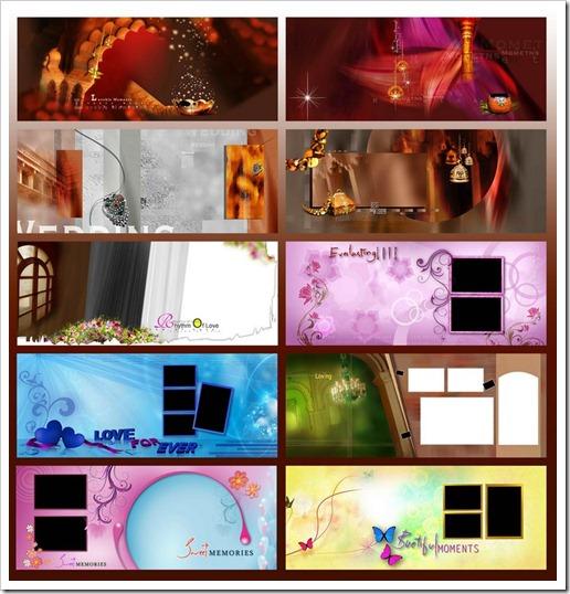 indian wedding bridal album templates psd