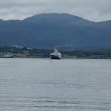 De veerboot bij Halsafjorden.