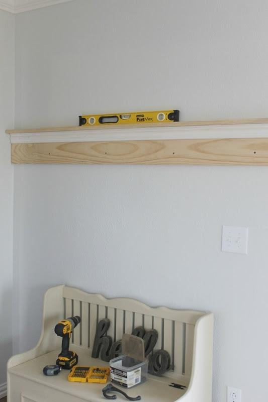 coat rack hanging up
