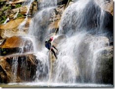 Canyoning with lagoon
