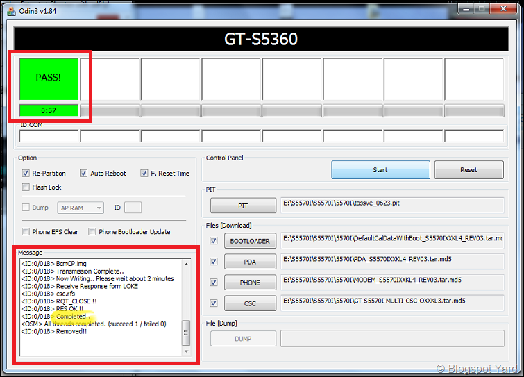 gt-s5570i flash successfull