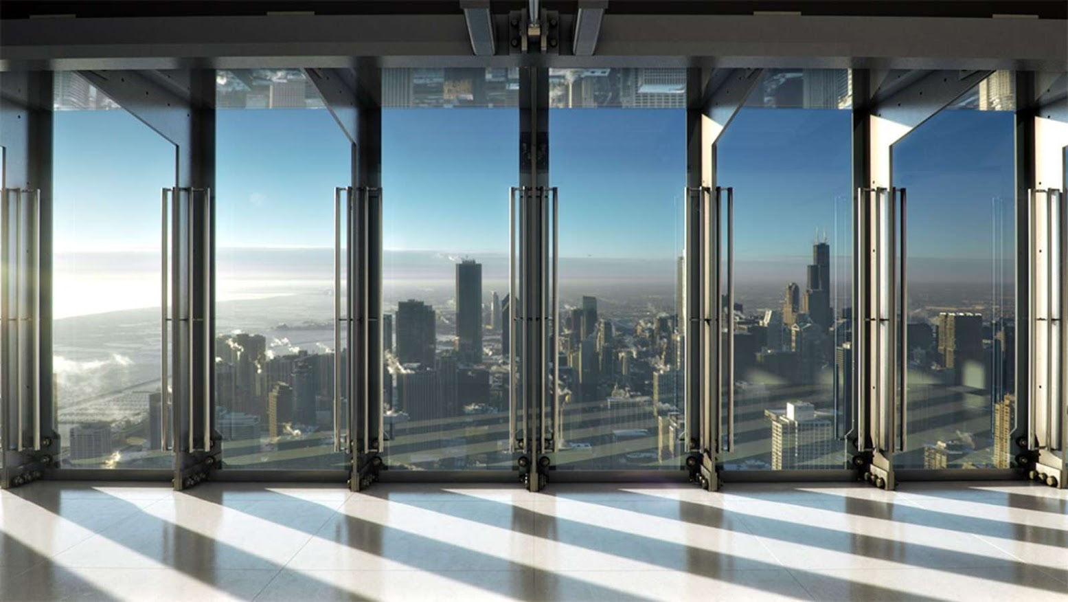 Chicago, Illinois, Stati Uniti: [HANCOCK CENTER NEXT OPEN OF TILT BY THORNTON TOMASETTI]