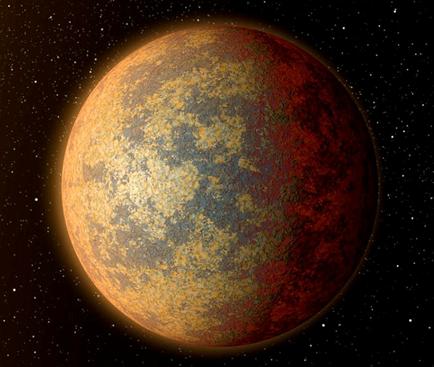 ilustração do exoplaneta HD219134 b