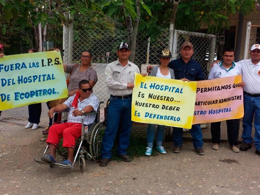 Protesta en Tibú para evitar privatización del Hospital de la USO