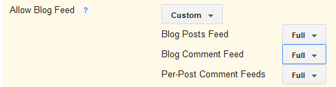 Blog feed custom length options