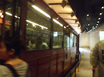 Taking the tram up to the top of the Peak