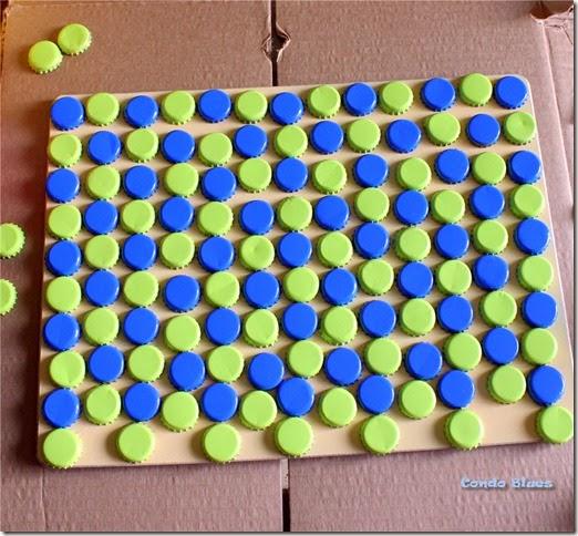 bottle cap placemat craft