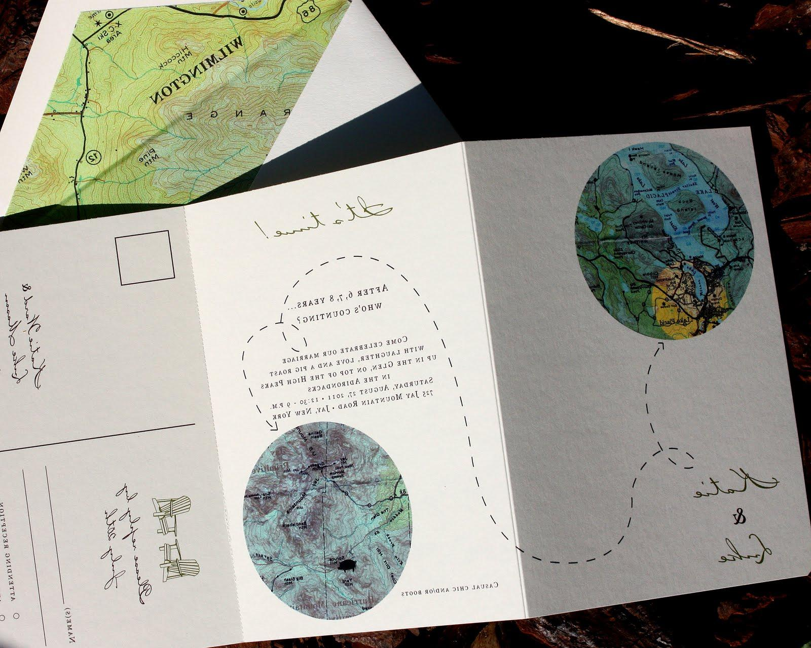 A tri-fold invitation for a