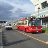 cute red bus in yokohama in Yokohama, Tokyo, Japan