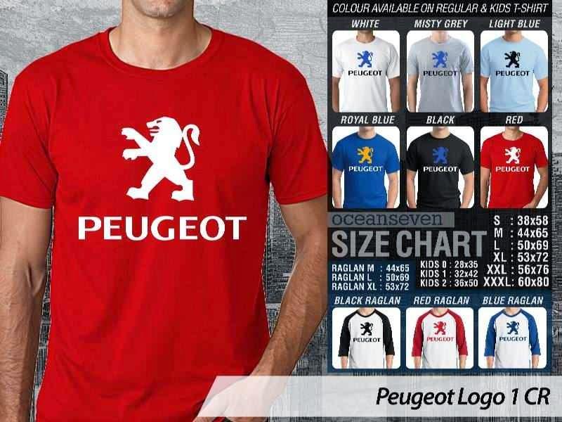KAOS Peugeot Logo Otomotif distro ocean seven