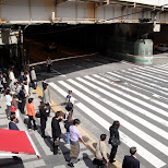 osaka station pedestrian crossing in Osaka, Osaka, Japan