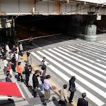 osaka station pedestrian crossing in Osaka, Osaka, Japan