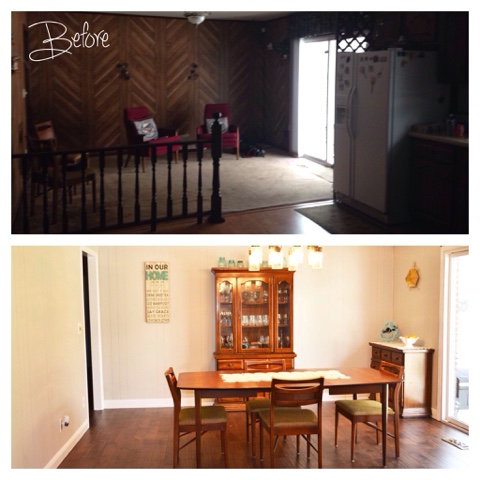 #before, #after, #diningroom, #homerenovation, #homeproject, #home